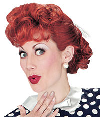 Adult I Love Lucy Costume Wig