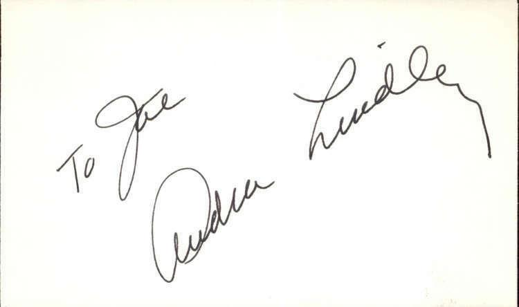 Audra Lindley D.1997 Actress The Ropers signed 3x5 index Card