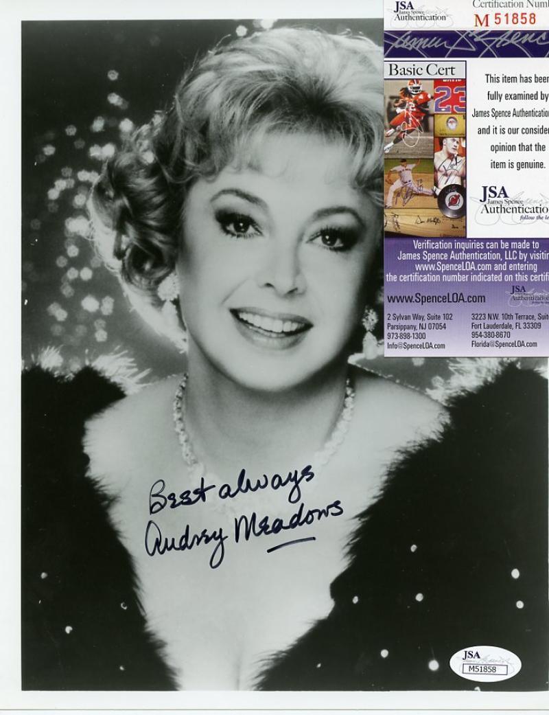 Audrey Meadows Actress Honeymooners Signed 8x10 Photo W/coa Jsa M51858