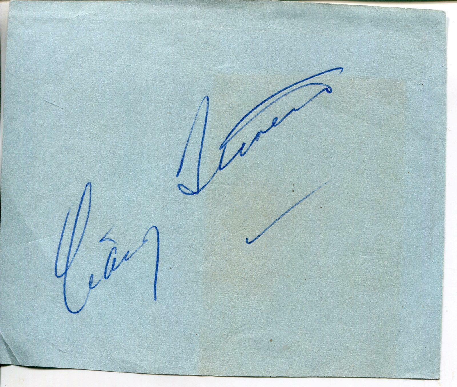 Craig Stevens Autograph Actor In Peter Gunn & Here's Lucy Signed Vintage Page