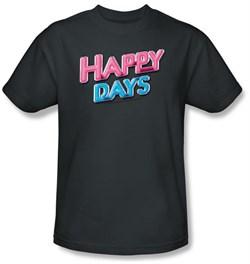 Happy Days Kids T-shirt - Happy Days Logo Youth Charcoal Tee Shirt