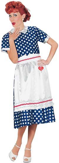 I Love Lucy Polka Dot Dress Womens Costume