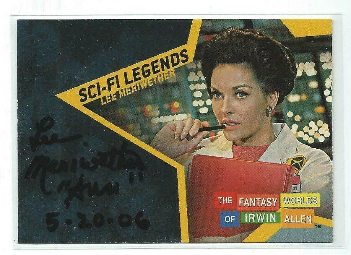 Lee Meriwether Signed Sci-Fi Legends The Time Tunnel Card #R12