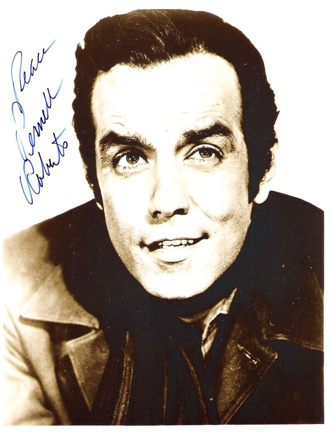 "PERNELL ROBERTS ""BONANZA"" as ADAM CARTWRIGHT - Passed Away 2010 Signed 8x10 B/W Photo"