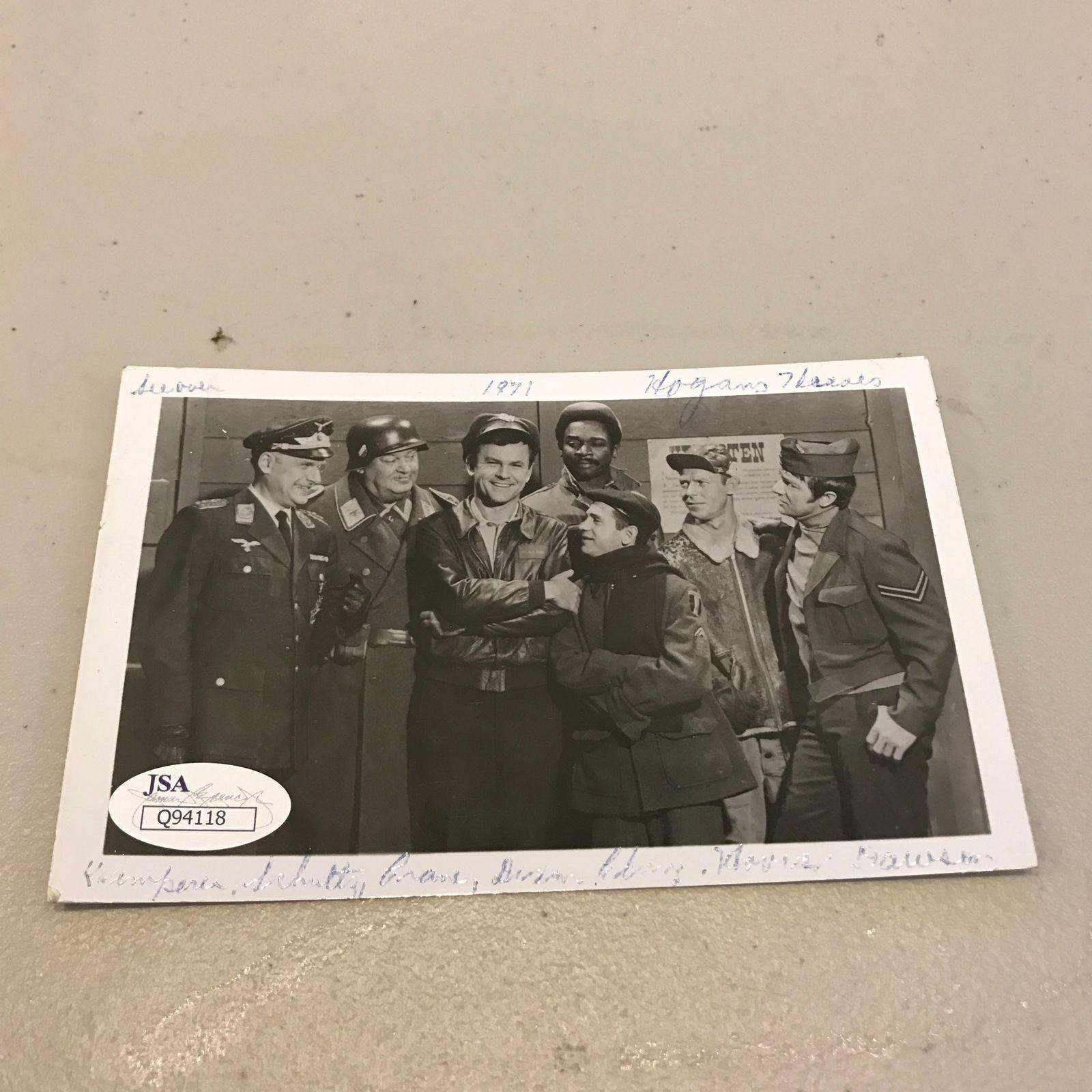 Rare 1960's Bob Crane Hogans Heroes Signed Autographed Photo Postcard JSA COA