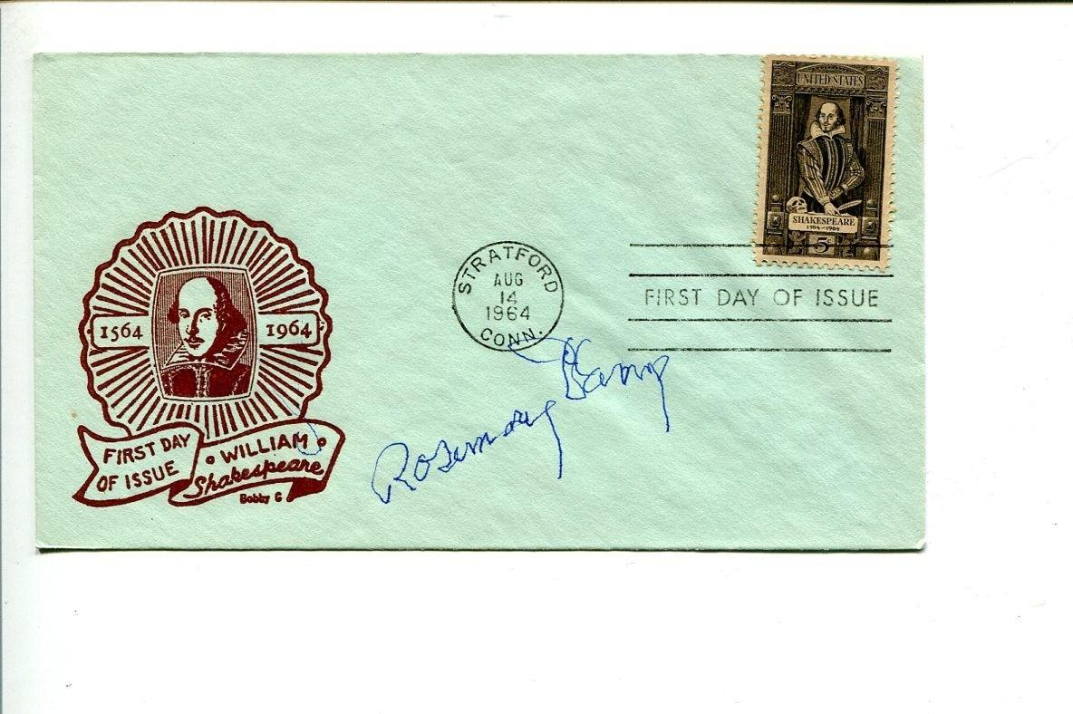 Rosemary DeCamp Jungle Book The Bob Cummings Show That Girl Signed Autograph FDC