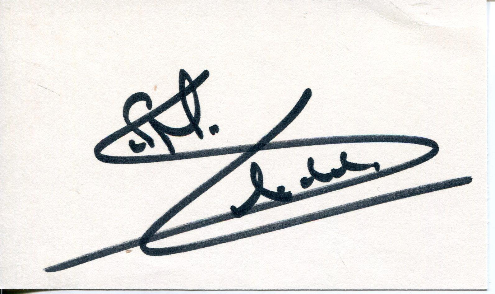Simon Maccorkindale Actor In Manimal & Quatermass Signed Card Autograph