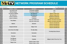 MeTV Fall 2019 Schedule