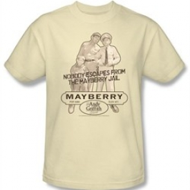 Andy Griffith Show T-shirt – MAYBERRY JAIL Adult Cream Tee
