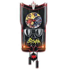 BATMAN Classic TV Series BATMOBILE Cuckoo Clock