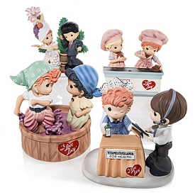 Figurines: Precious Moments I LOVE LUCY: Now And Forever Figurine Collection
