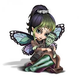 "Jasmine Becket-Griffith ""Herman"" Fairy Munsters Figurine"