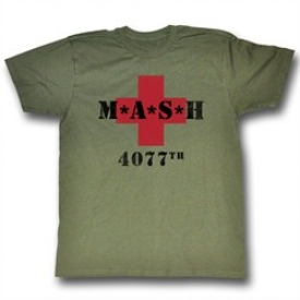 MASH Shirt MASH 4077 Adult Army Green Tee T-shirt