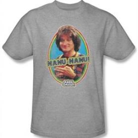 Mork and Mindy Shirt Nanu Nanu Athletic Heather T-Shirt