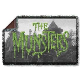 Munsters Logo Woven Tapestry Throw Blanket