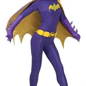 Rubie's Grand Heritage Batgirl Classic TV Batman Circa 1966 Adult Costume, Purple/Gold, Medium